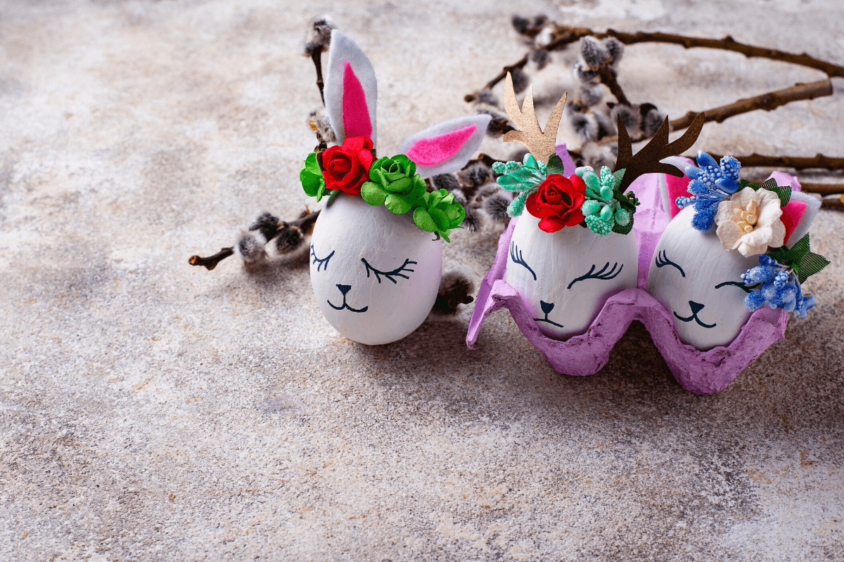húsvéti DIY dekorációk